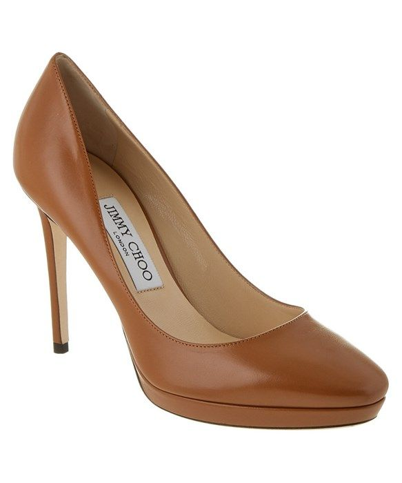 Plateau pumps HOPE 100 suede brown Jimmy Choo London Juj48Ap39