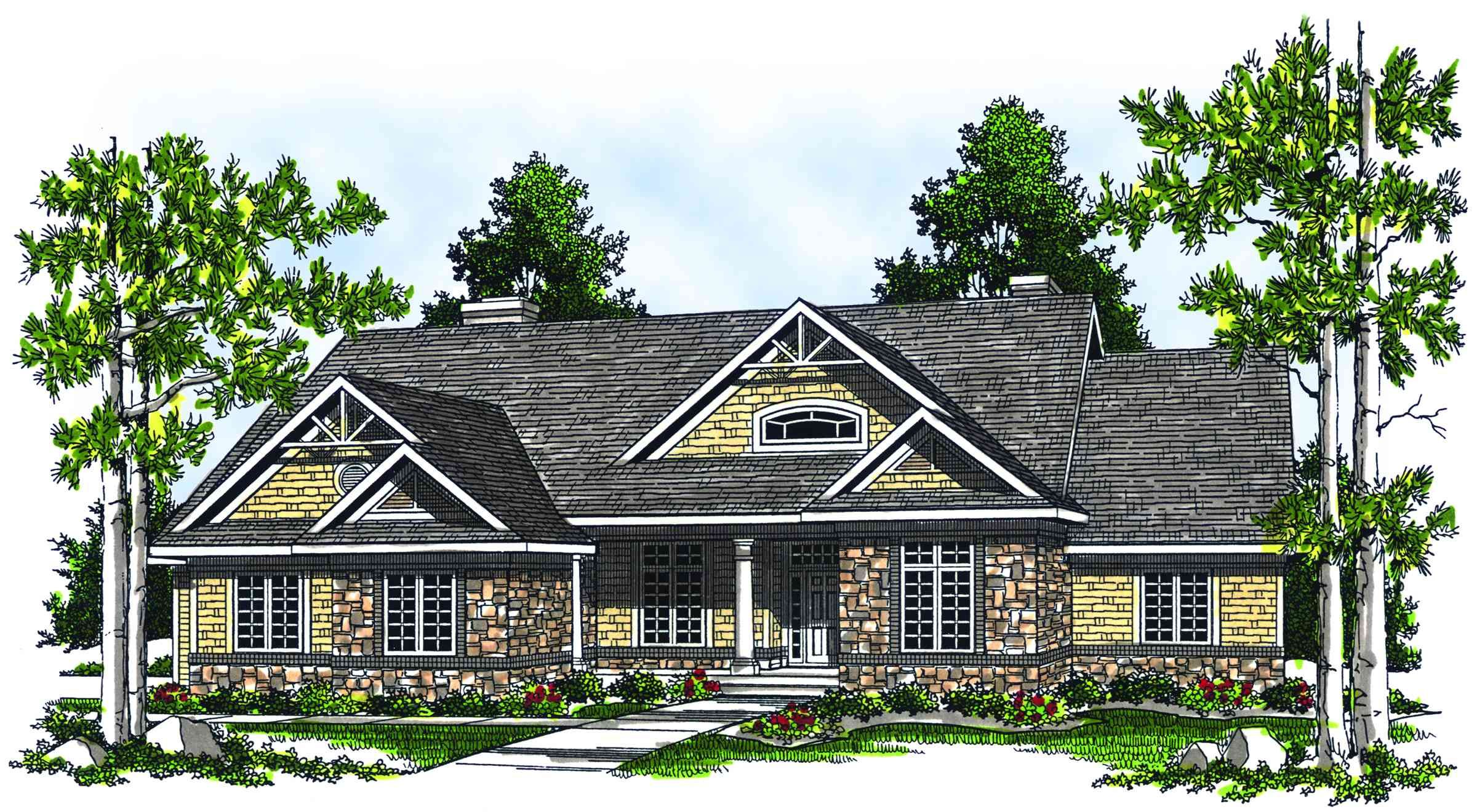 Plan 89076ah Rustic Ranch Country Style House Plans Craftsman Style House Plans Cottage House Plans