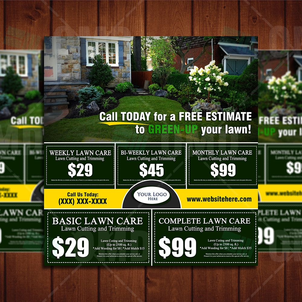 Lawn Care Marketing Postcard 3 Lawn Care Business Lawn Mowing