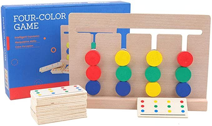 Amazon Com Montessori Color Match Maze Game Logic Games Puzzle Toy For Toddlers Toys Games In 2020