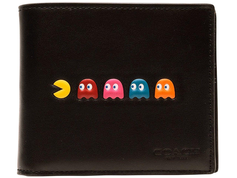 523849985a87 Amazon | (コーチ) COACH 財布 札入れ 二つ折り パックマン パスケース付 メンズ ブラック