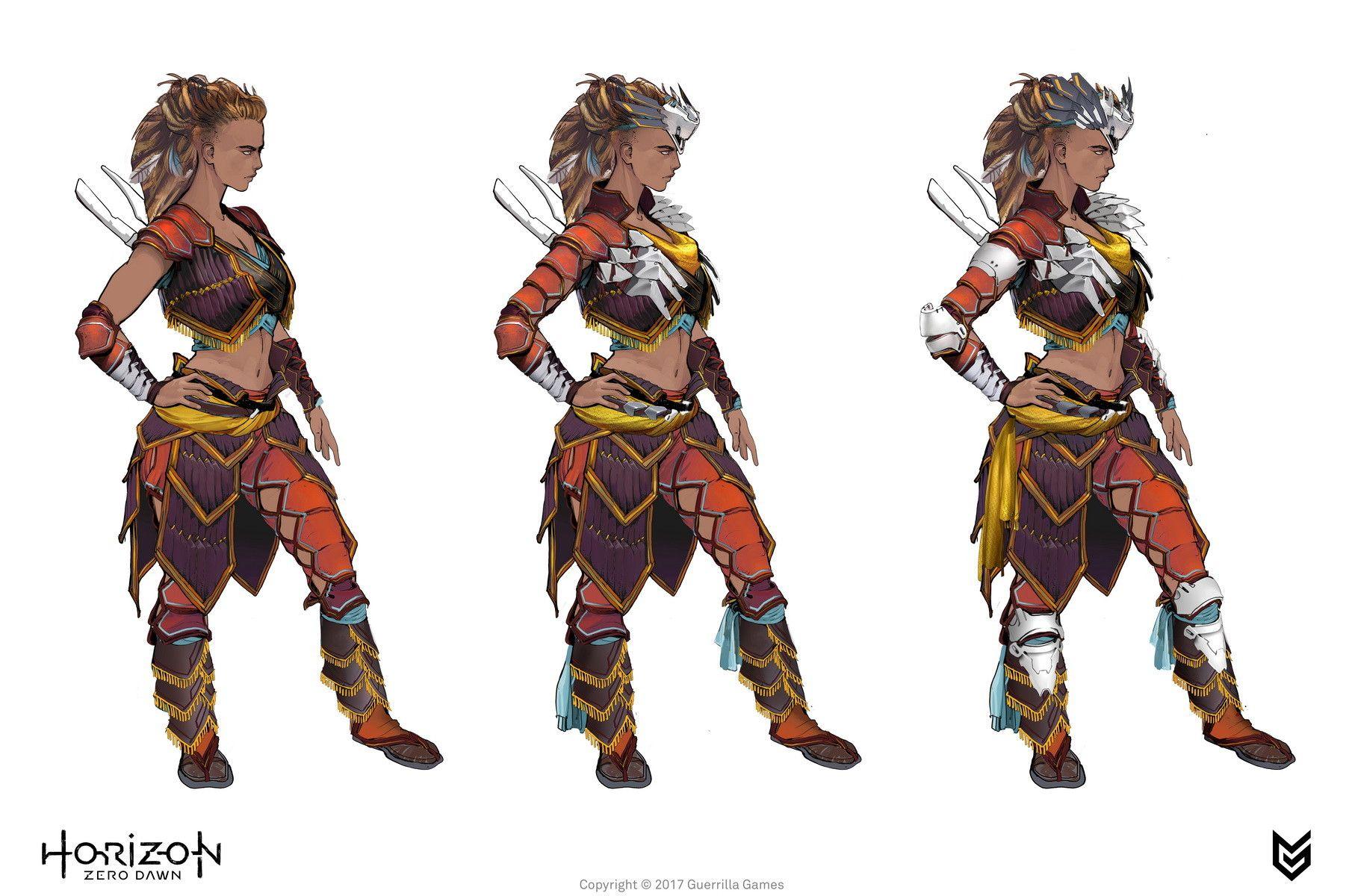 Artstation Horizon Zero Dawn Aloy Costumes Concept Art