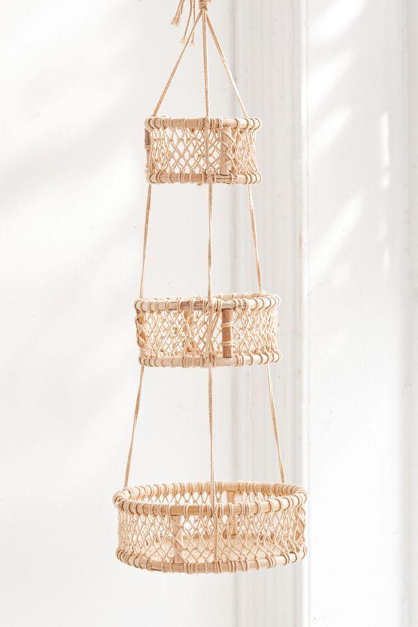 Three Tier Hanging Basket Hanging Fruit Baskets Hanging Baskets Basket