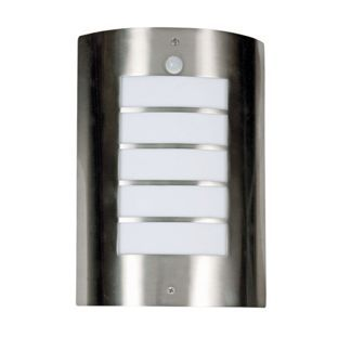 Flush Wall Light With Pir Stainless Steel 15w From Homebase Co Uk With Images Wall Lights Homebase Outdoor Wall Lights