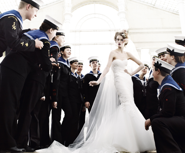 'Wedding Belles' shot by Mario Testino for British Vogue's May 2011 Issue