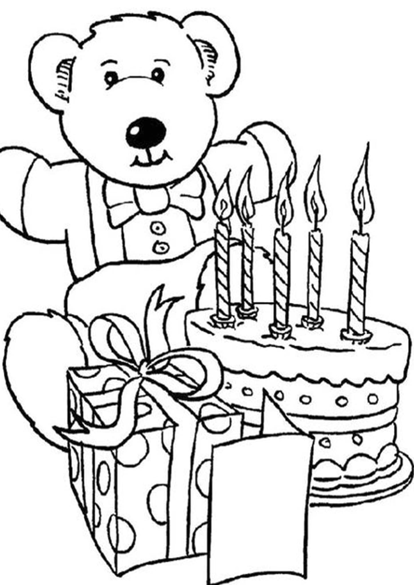 Free & Easy To Print Cake Coloring Pages in 2020 Happy