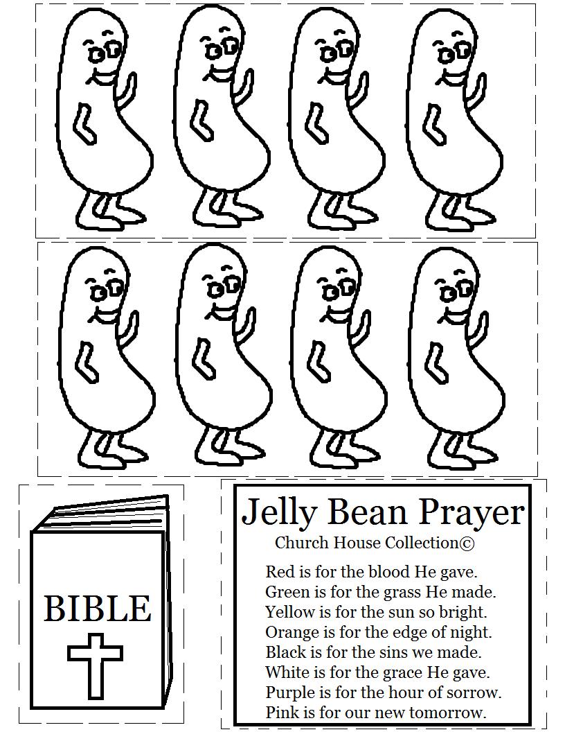 Church House Collection Blog: Jelly Bean Prayer Cutout