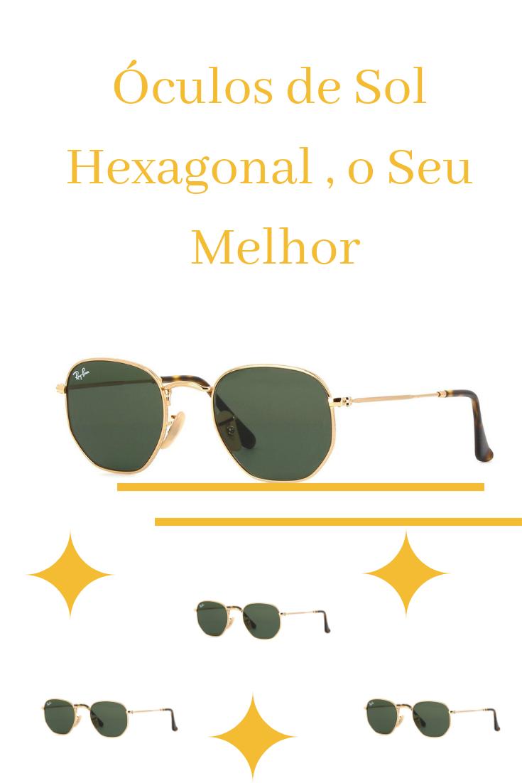 55ed8cd81 Óculos De Sol Hexagonal Feminino - Masculino Black Friday | Óculos ...