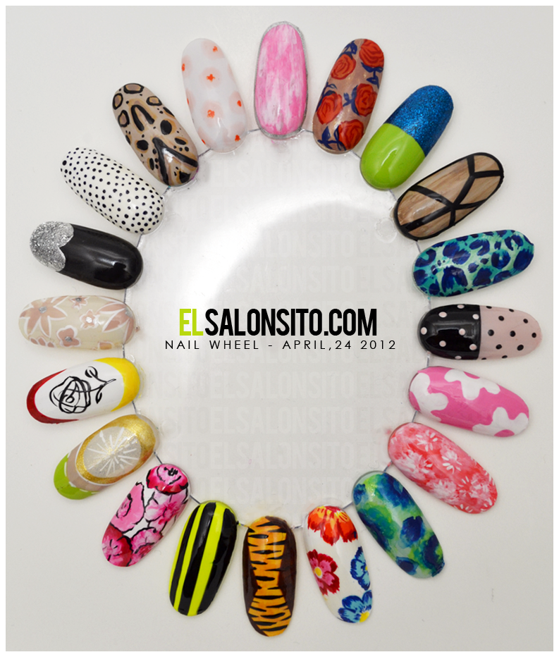 fashion inspired #nailart wheel. | The Lusty Nail | Pinterest | Nail ...