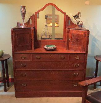 Limbert Ebon Oak Dresser Made For The Mission Inn Riverside Ca C1912 70 75 H X 54 W X 23 D Mission Furniture Design Country Cottage Interiors