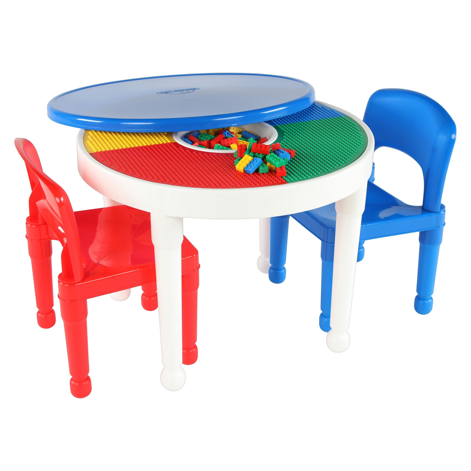 Round Plastic Construction Table With 2 Chairs Amp Cover