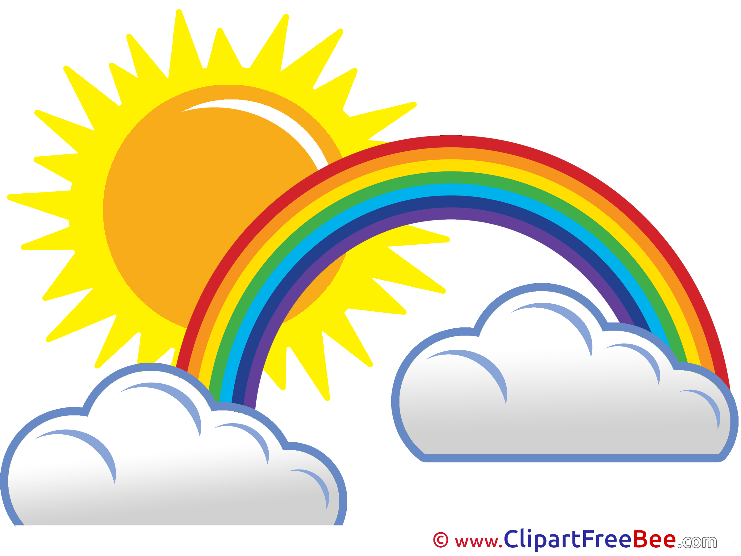 Rainbow Clipart Sun Pencil And In Color Rainbow Clipart Sun