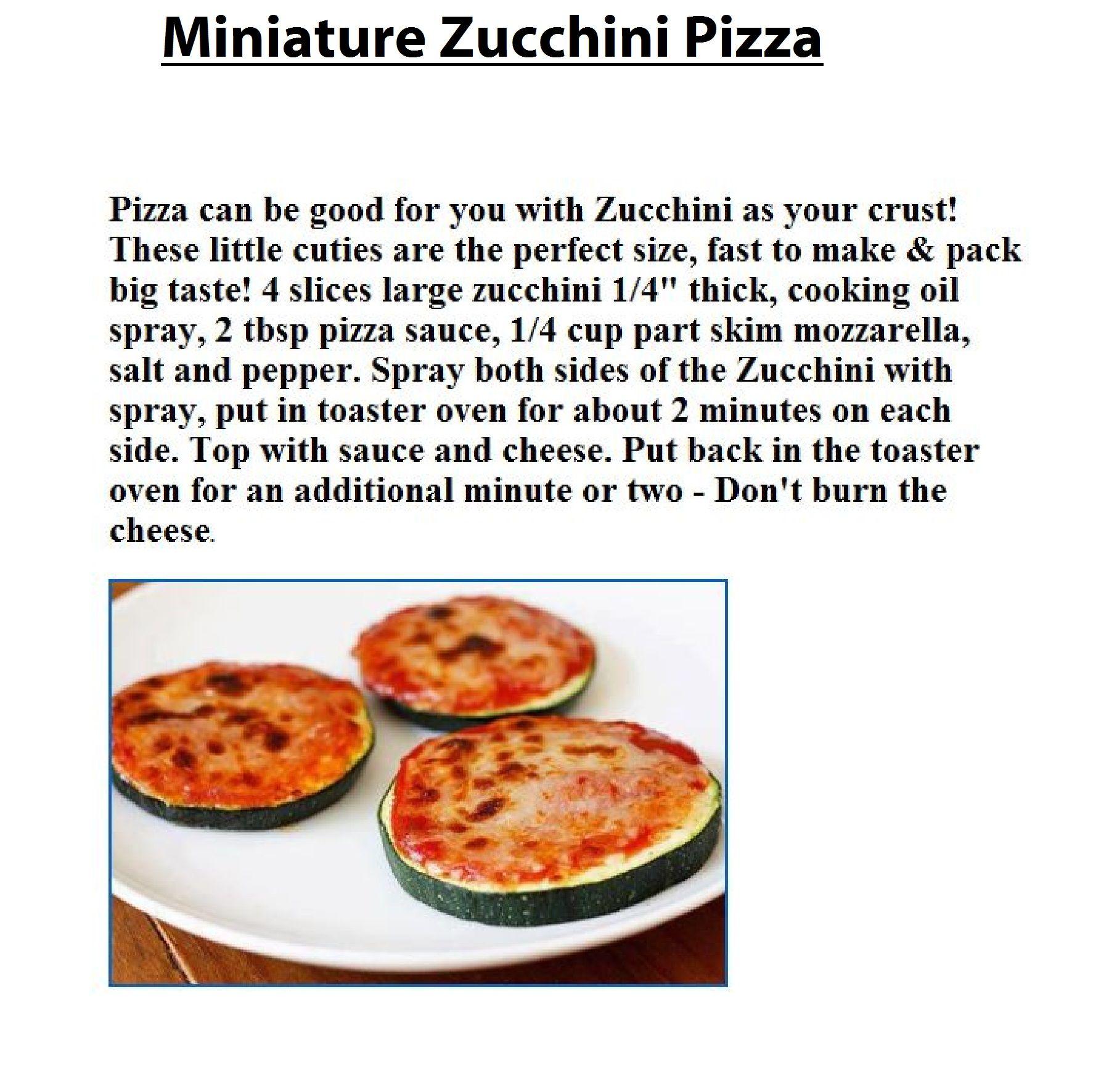 Miniature Zucchini Pizza