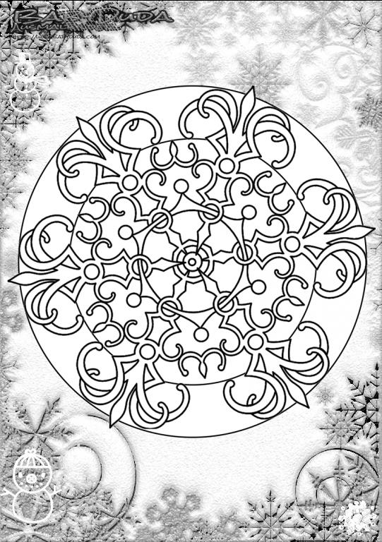 Winterbilder Mandala Schneeflocken Weihnachtsbaum Babyduda Malbuch Winterbilder Malvorlagen Schneebilder