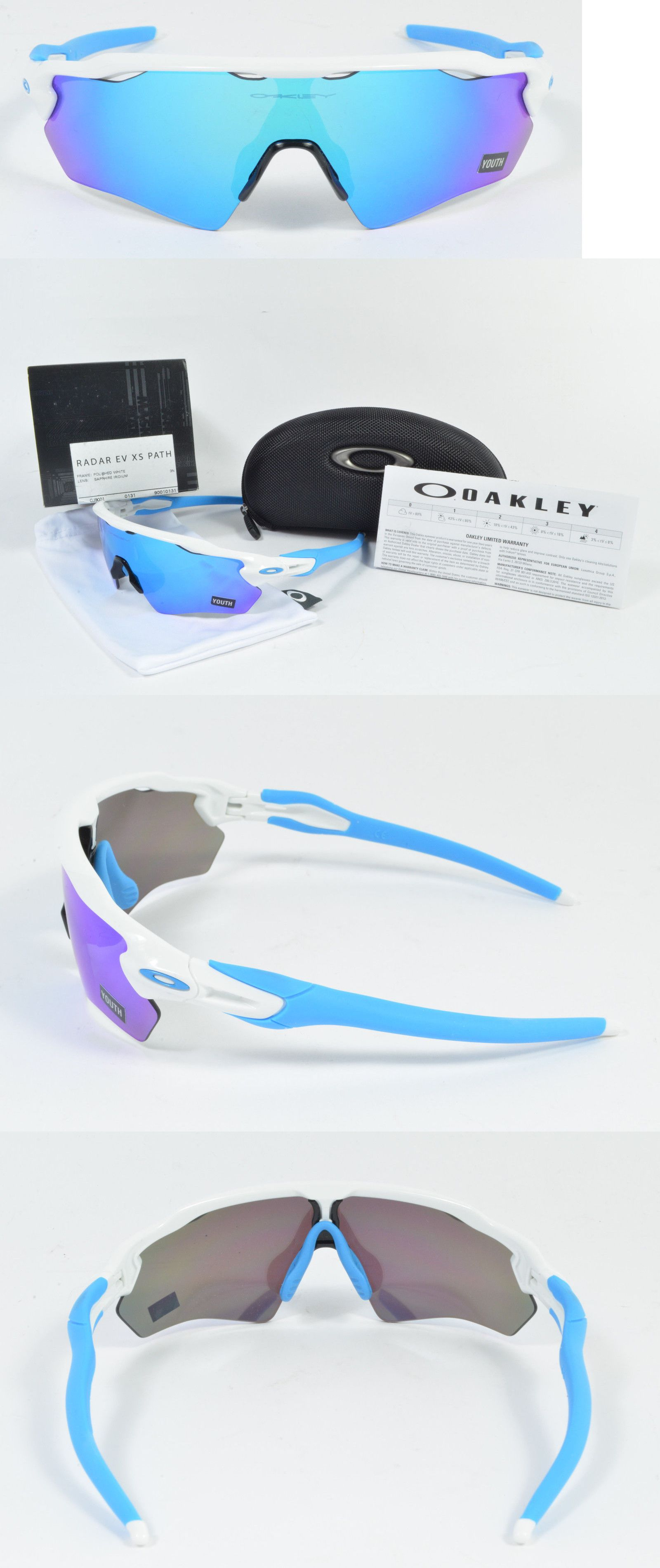 245b7655fc148 Sunglasses 131411  Oakley Radar Ev Xs Path Youth Polished White W Sapphire  Iridium Oj9001-0131 Nib -  BUY IT NOW ONLY   105 on eBay!