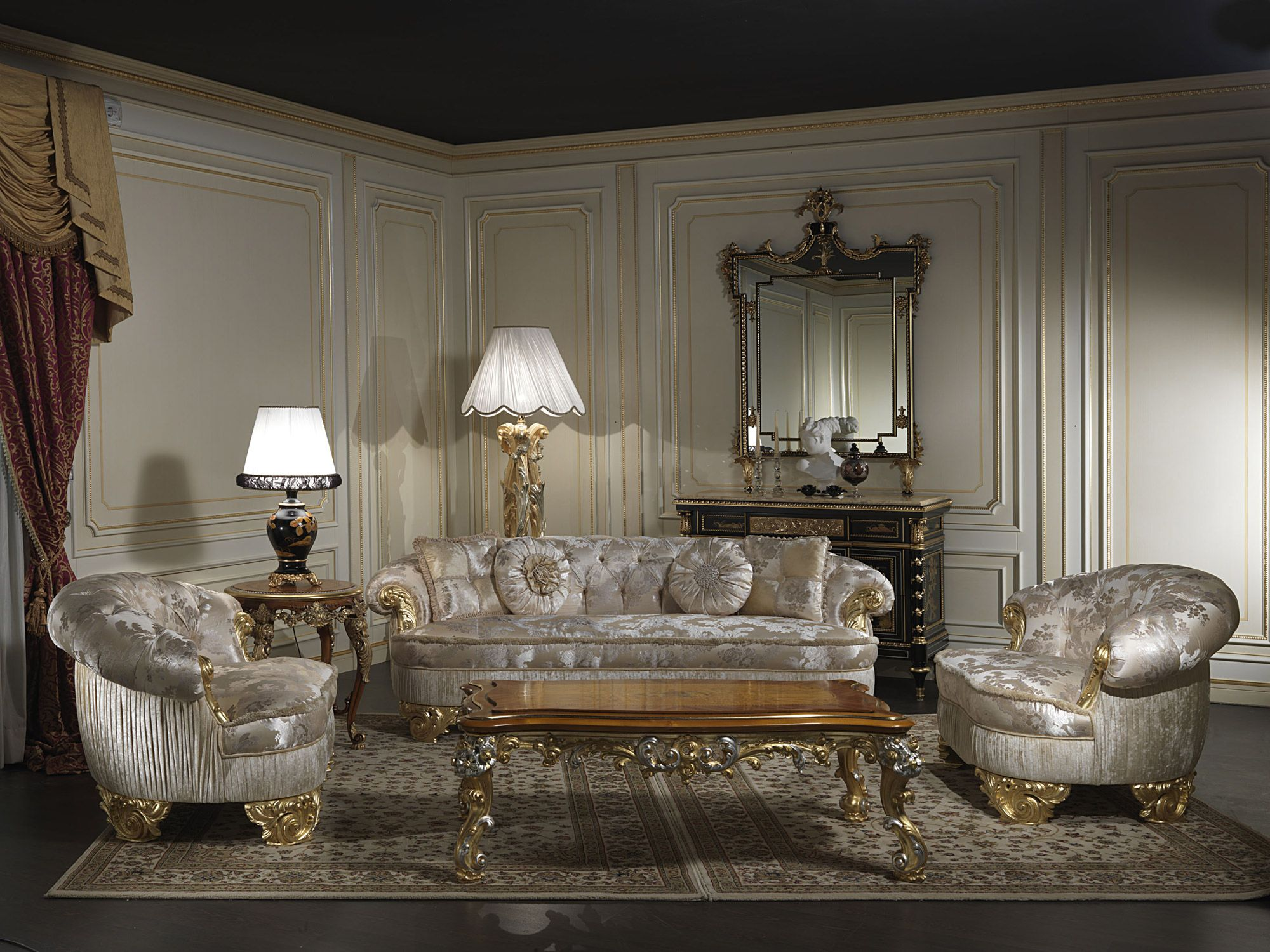 Classic Upholstered Sofas Of The Luxury Craft Collection Paris 100% Made Inu2026