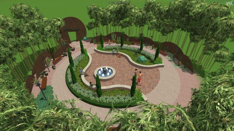 A Modern Park 3d Garden Landscape Design Structure Studios