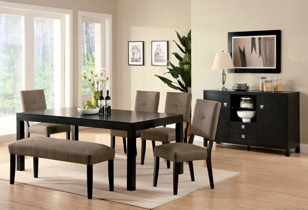 Bay Side I Contemporary Espresso Solid Wood Dining Table Captivating Espresso Dining Room Table Sets Design Decoration
