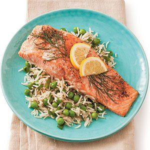 8 salmon recipes that are delicious! This is a pic of Roasted Salmon with Lemon and Dill. Southern Living.