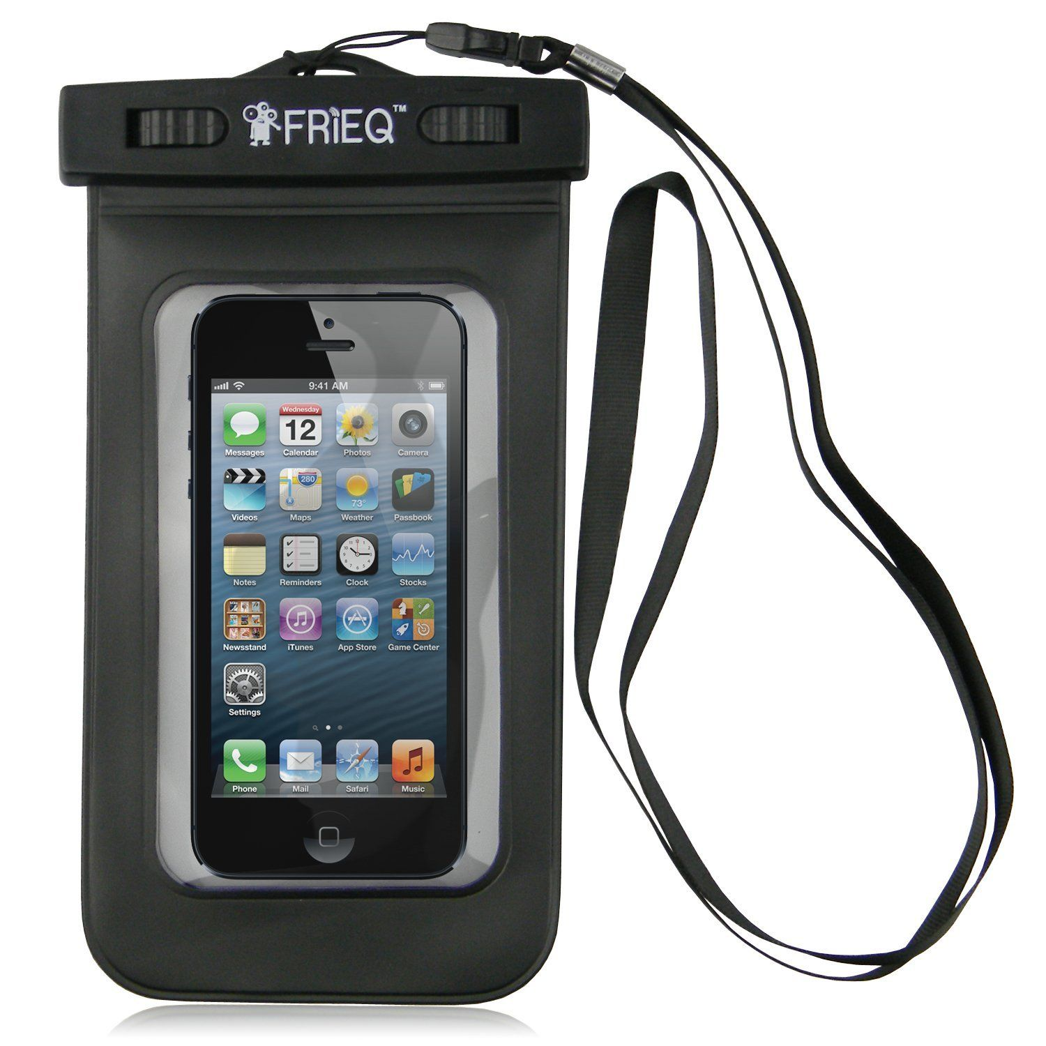 Waterproof case for iPhone 5 and iPhone 5s.