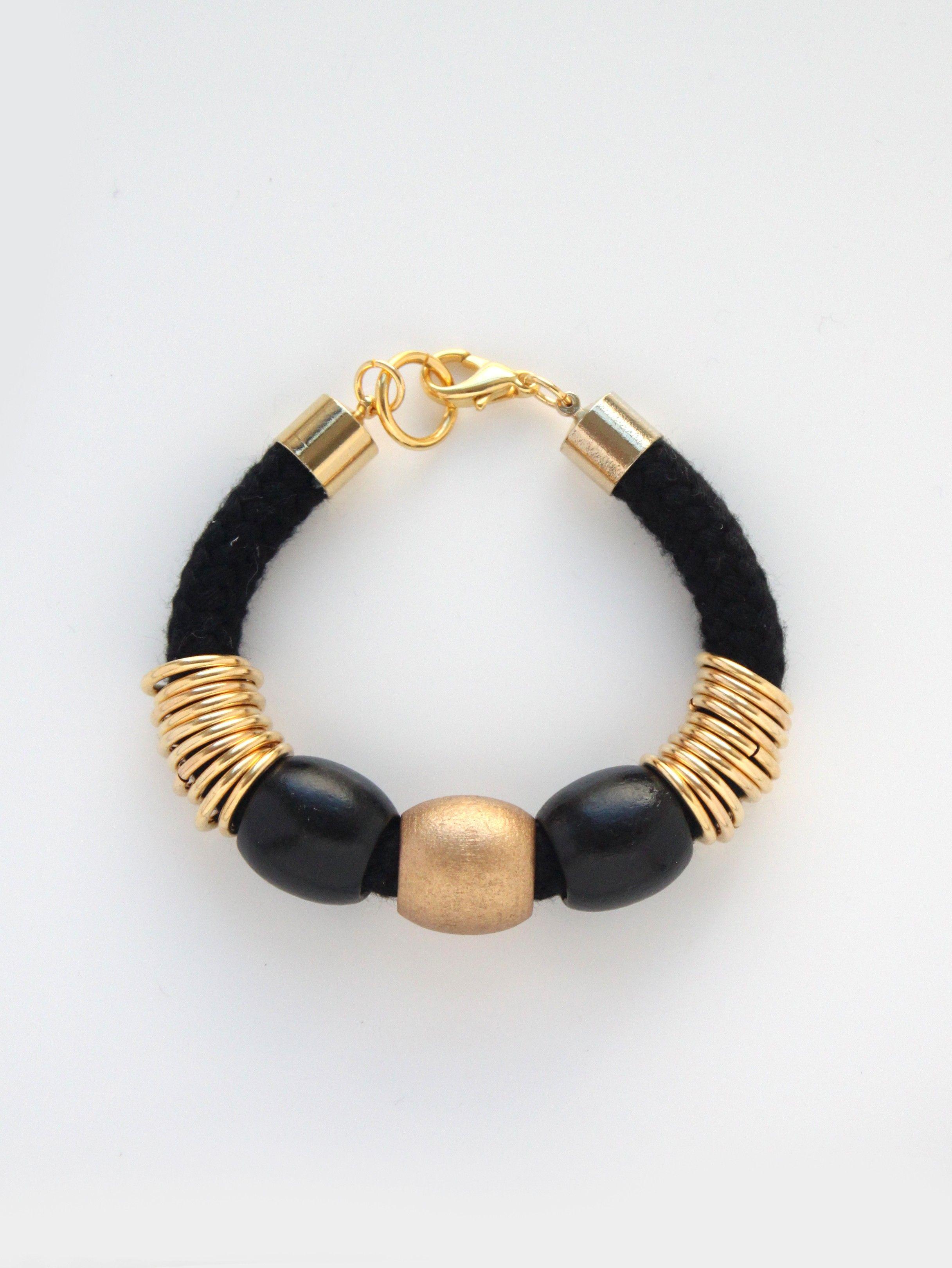 Black Brass Loops Bracelet BY NOPHAR HAIMOVITZ
