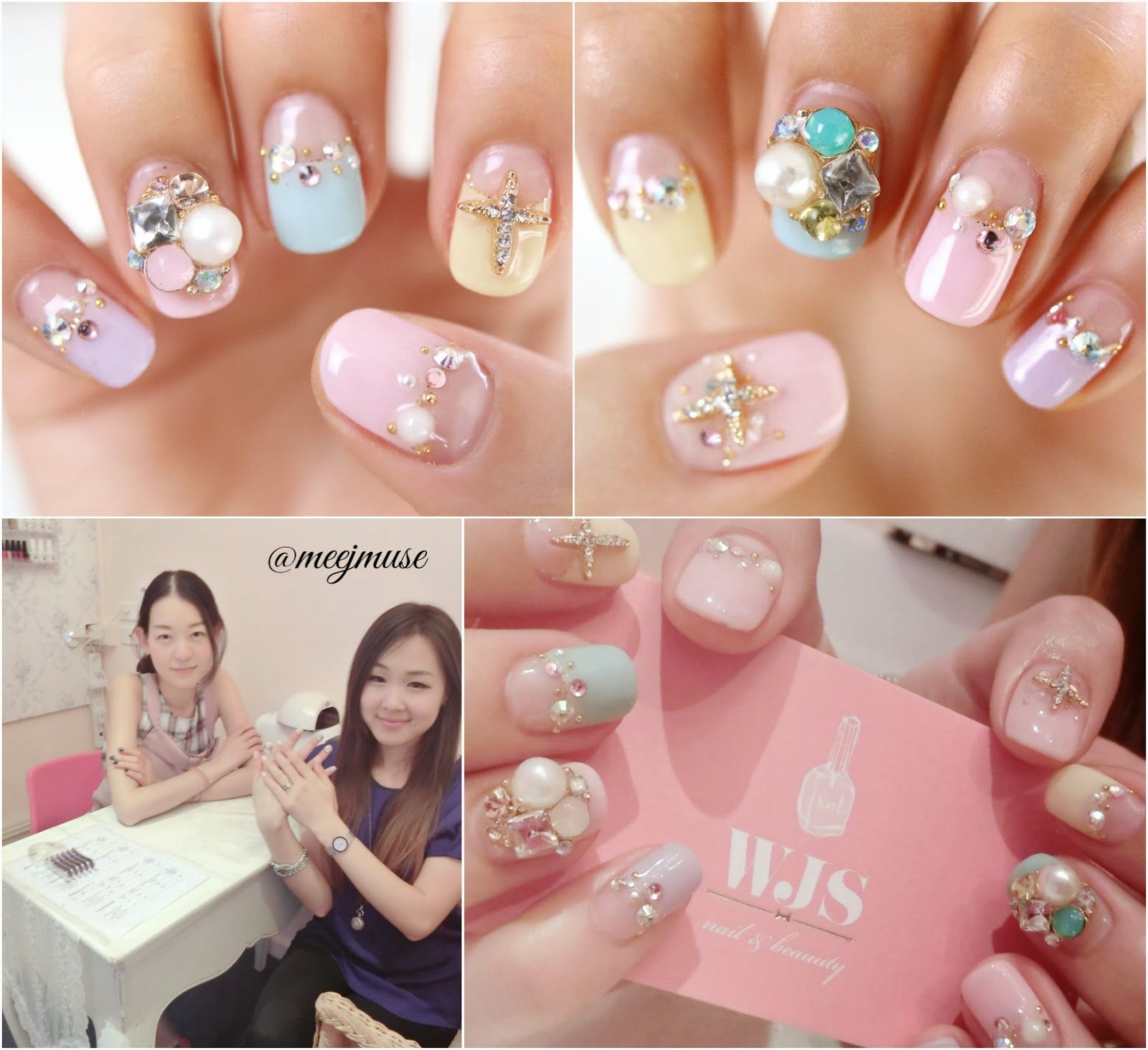 meejmuse: Mani Monday♥ Bio Sculpture Gel Nail Art #koreannailart