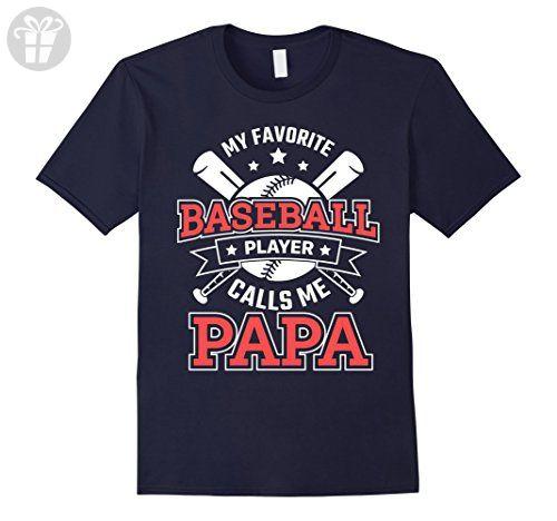 Mens Funny My Favorite Baseball Player Calls Me Papa TShirt XL Navy - Funny shirts (*Amazon Partner-Link)