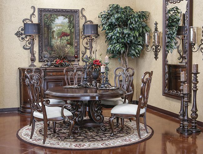 Grand Palais Round Dining Decorating Ideas Dining Dining Room Dining Room Furniture