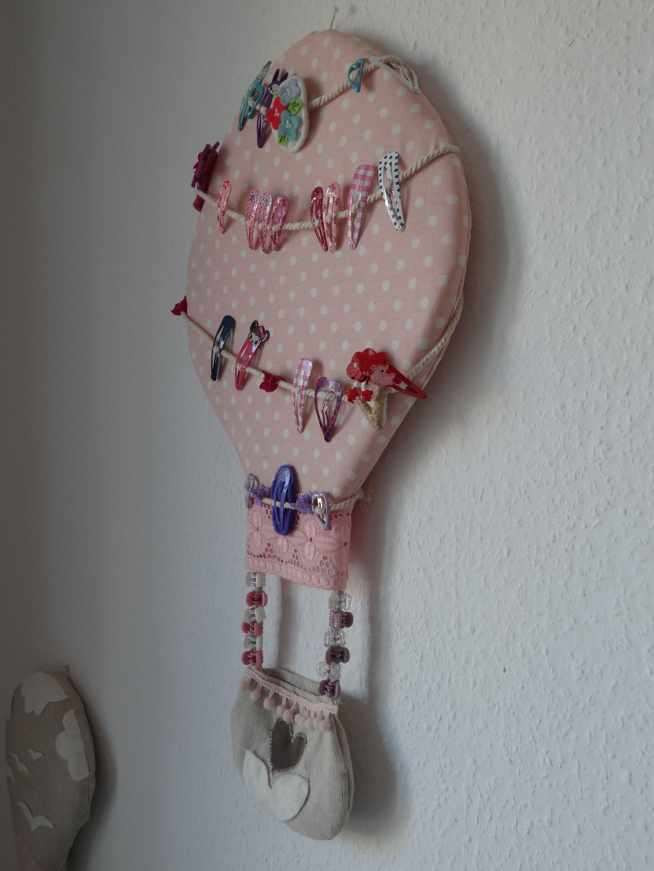 haarspangenhalter ballon utensilo ideen deko n hen. Black Bedroom Furniture Sets. Home Design Ideas