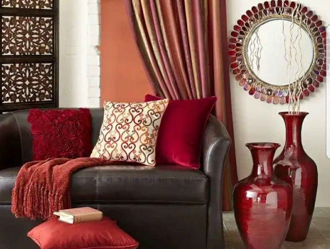 Red Brown And Gold Living Room Brown Living Room Decor Living