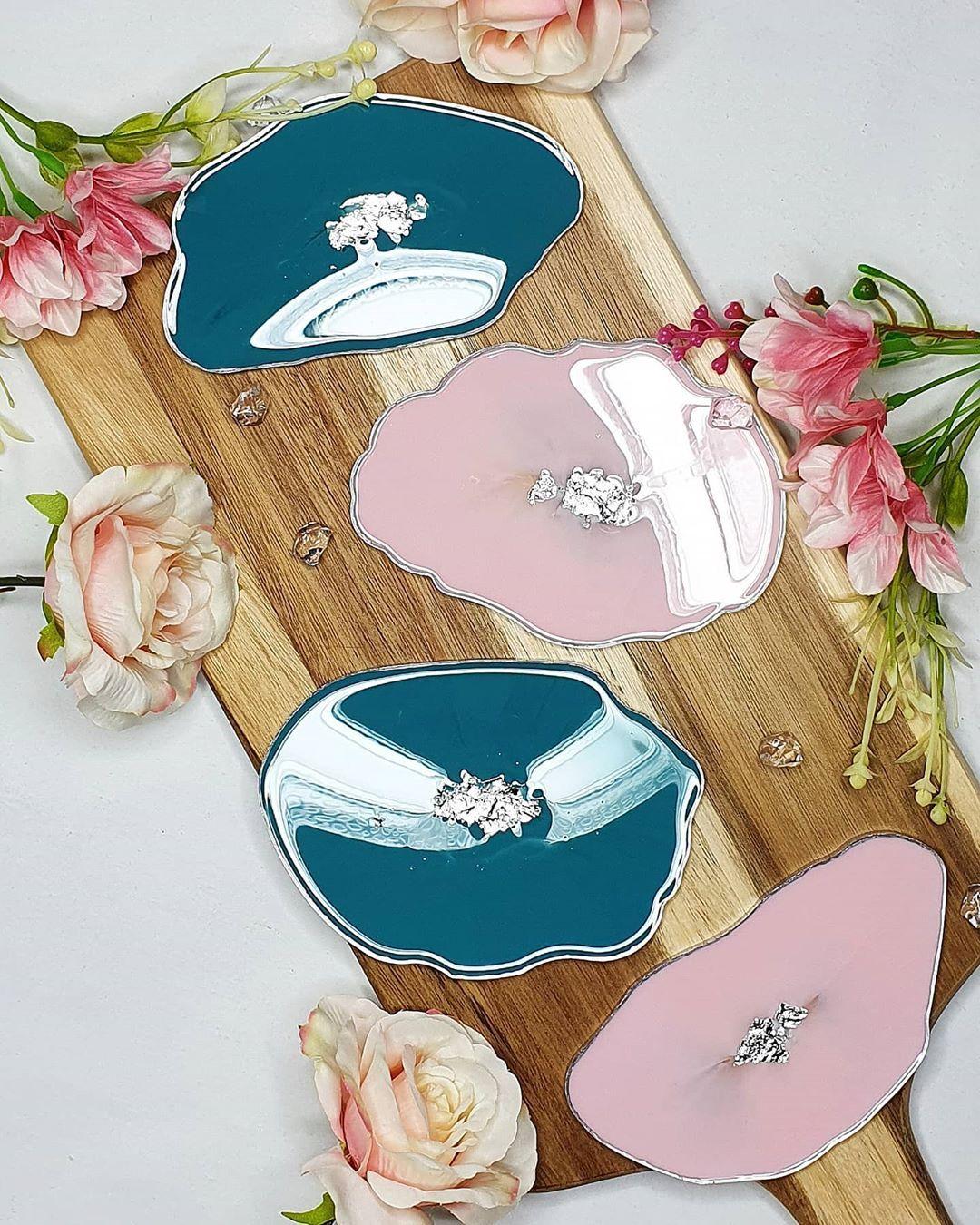 . Baby pink & torquoise for @nicola_life 💗💙 . . . #beautiful #instaart #contempary #instaartwork #homeinteriordesign #homeaccessories #homestyle #sideboard #homedecor #homeinterior #art #artwork #artist #diy #interiordesign #newartwork #artistlife #fineart #myart #diy #hamdmadecoasters #creative #color #resourceryartists #resin #resinart #coasters #handmade #resin8uk