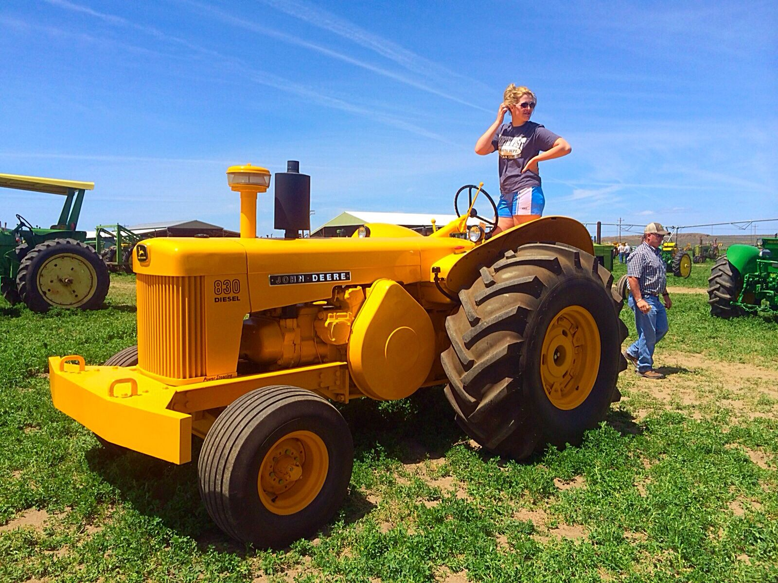 Good time at the John Deere auction today.75.6hp John Deere 830 industrial  tractor
