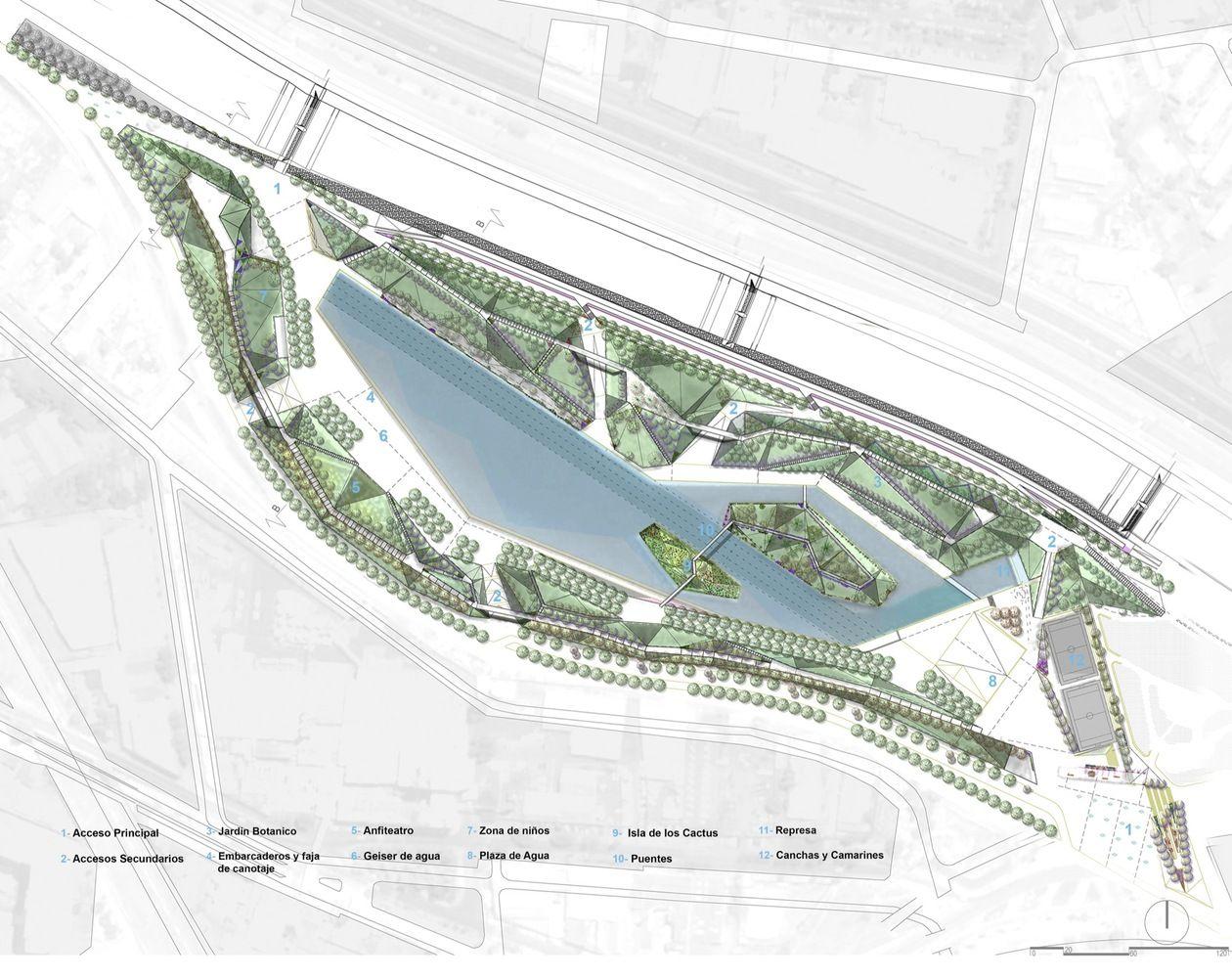 Galer a de parque fluvial padre renato poblete boza for Plan de arquitectura