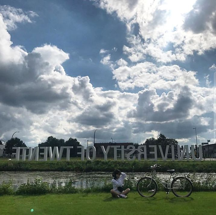 Such A Nice Weather Today Enjoy It Featured Ha Oung Utwente Campus Ut International University Nature Sign Weather Instagram University Clouds