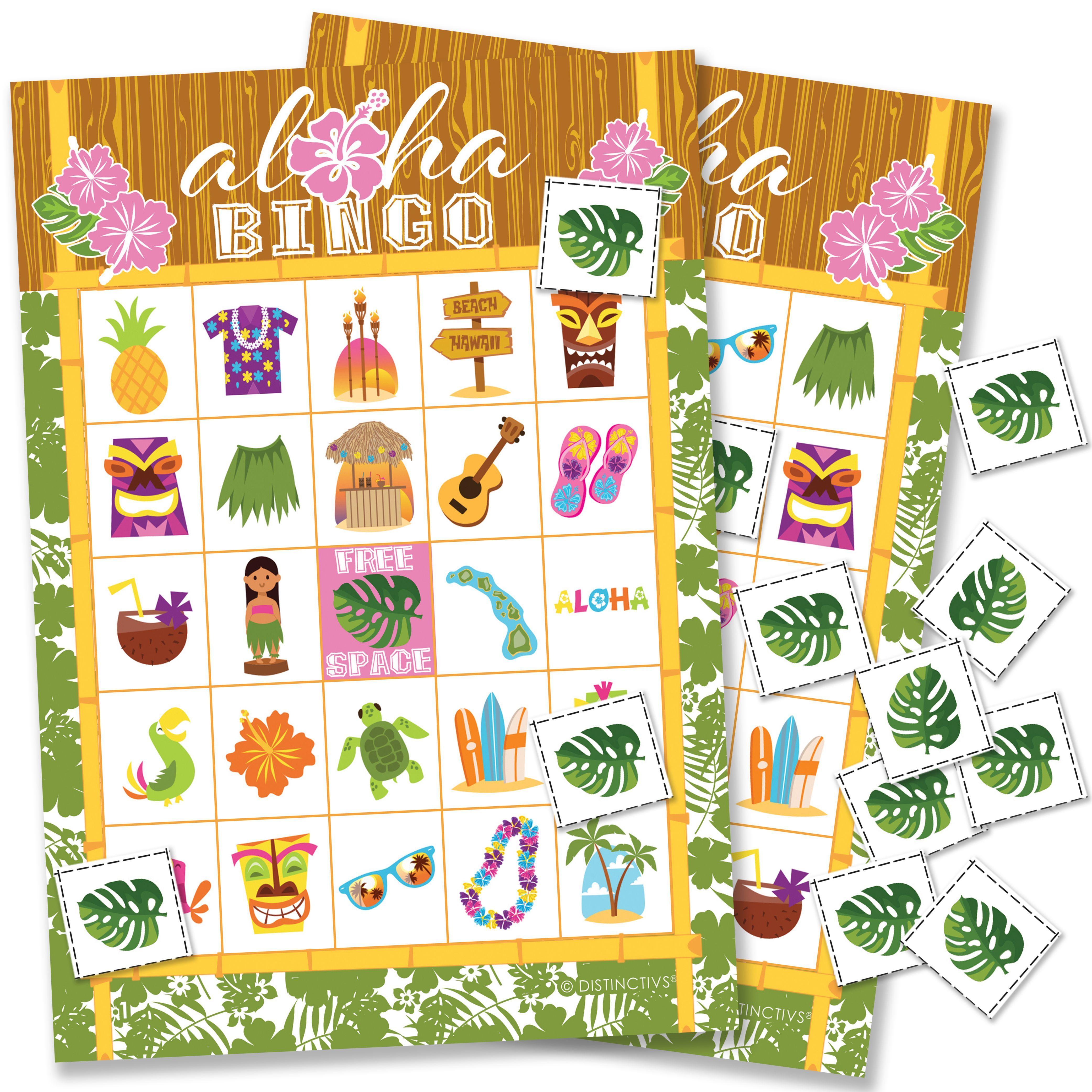 Hawaiian Luau Party Bingo Game 24 Players - Tropical Tiki Luau Birthday Party Supplies - 24 Bingo Cards with Chips - Walmart.com #tropicalbirthdayparty Hawaiian Luau Party Bingo Game 24 Players - Tropical Tiki Luau Birthday Party Supplies - 24 Bingo Cards with Chips - Walmart.com #tropicalbirthdayparty