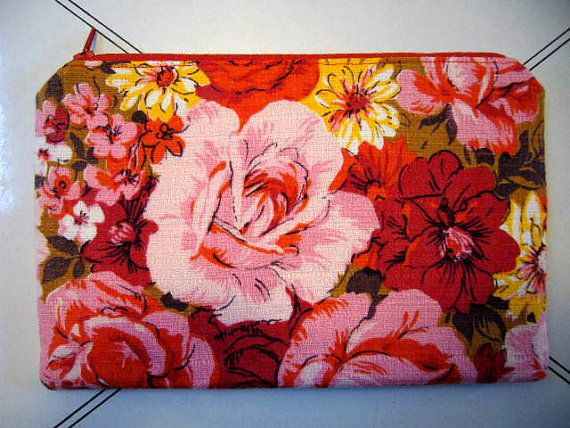 Vintage Fabric Clutch/Pouch by frostline on Etsy, $15.00