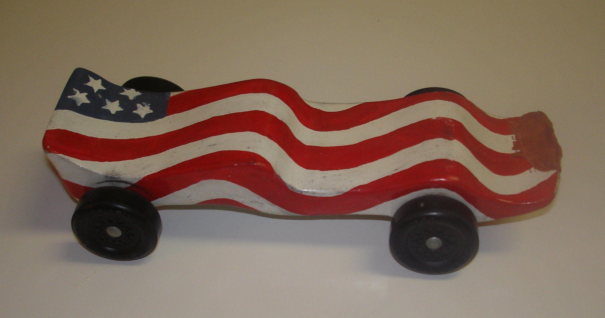 pinewood derby car designs flag car