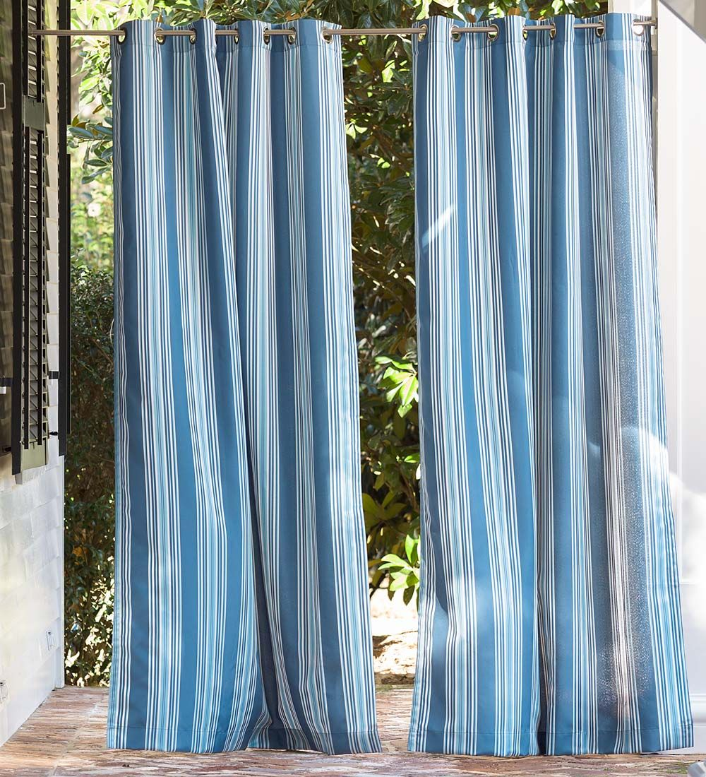 Grommet Top Curtains Shades Plow Hearth Outdoor Curtains Are