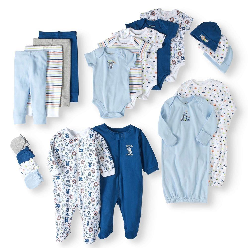 23a838b182cc Garanimals Newborn Baby Boy 20 Piece Layette Baby Shower Gift Set ...