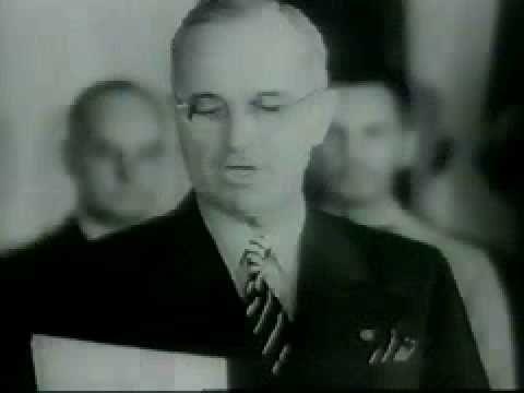 President Truman reads the Japanese Surrender 1945 - YouTube