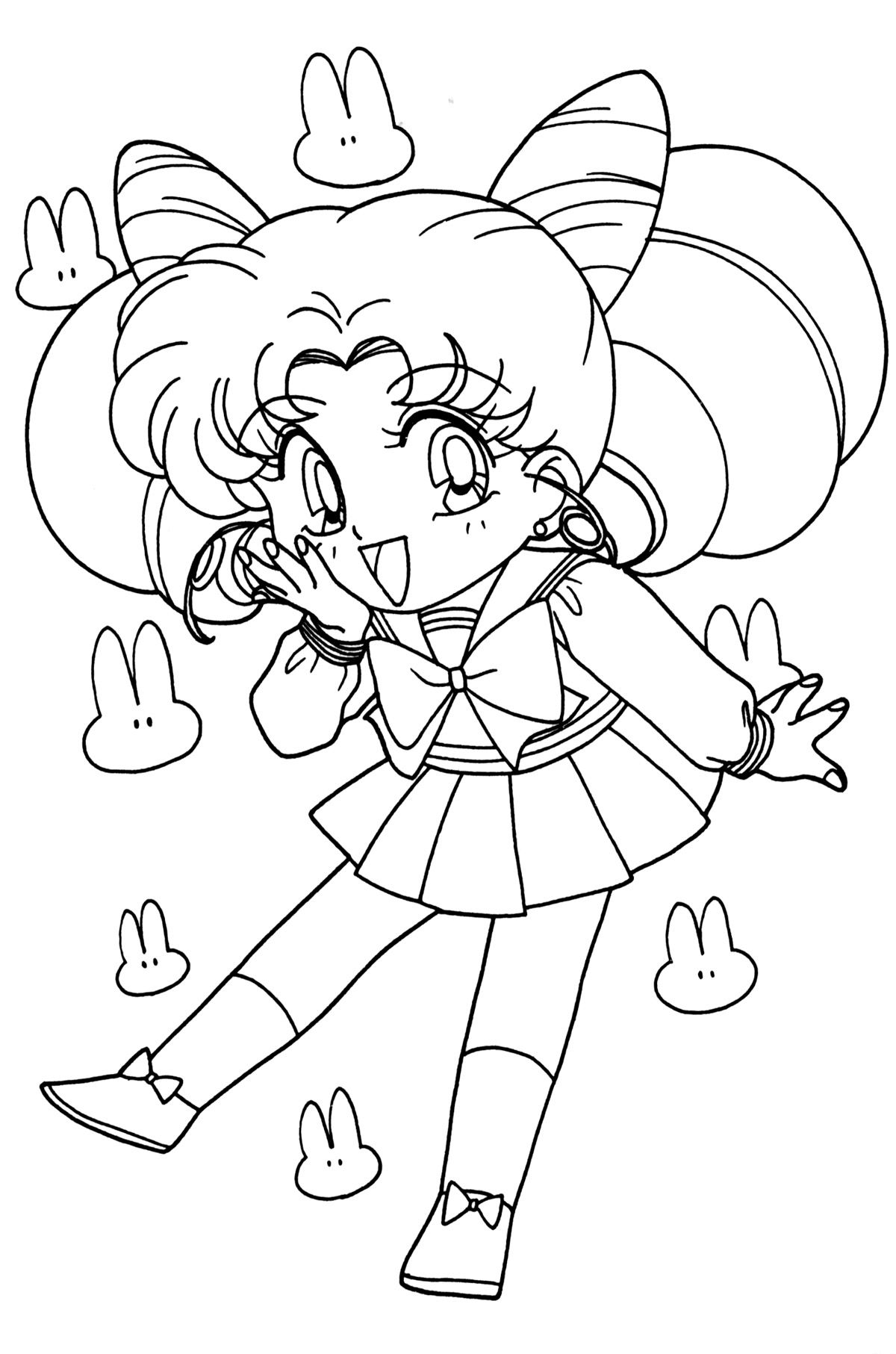 Sailor Chibi Moon Coloring Pages Sketch Coloring Page