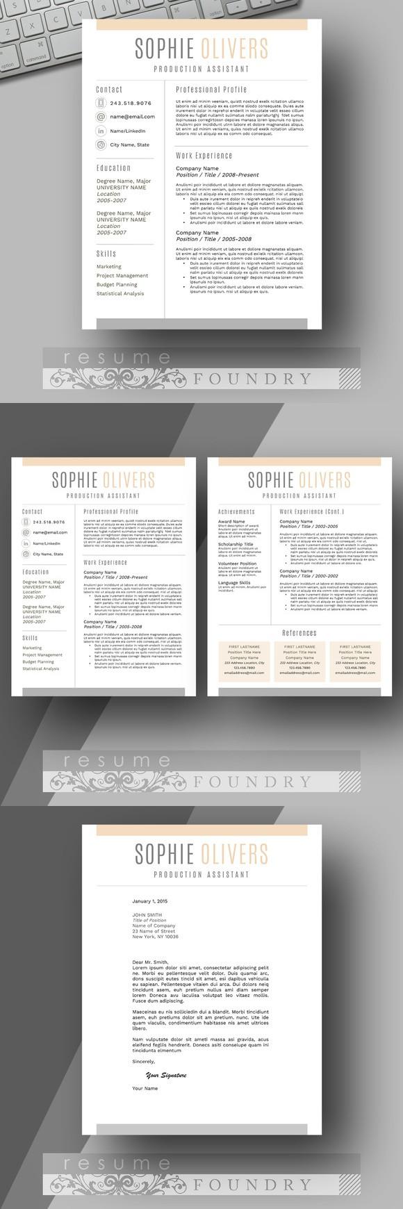 Resume Template Word   Pinterest