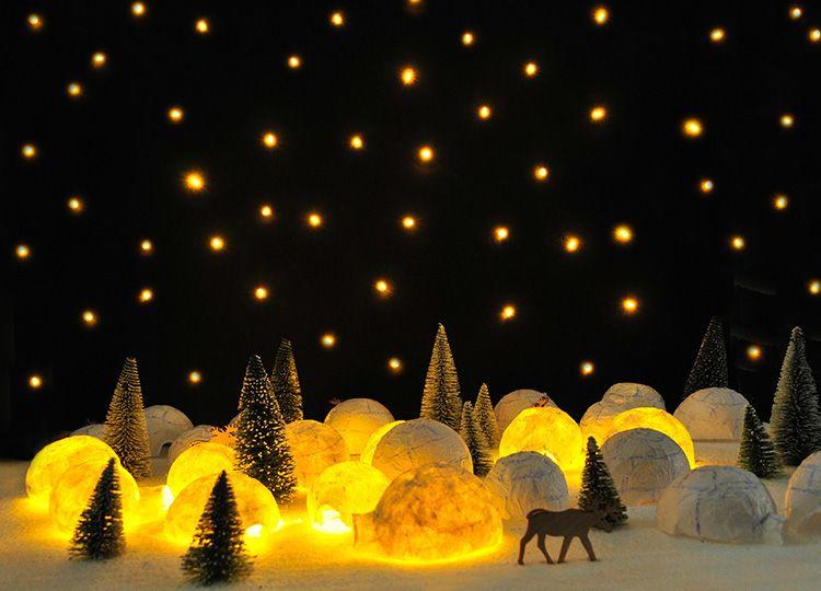 adventskalender iglu eishotel igloo ice hotel advent calendar bastel deko kita. Black Bedroom Furniture Sets. Home Design Ideas