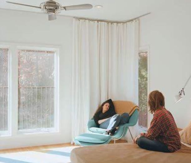 Ceiling Mounted Curtain Tracks In 2019 Womb Chair