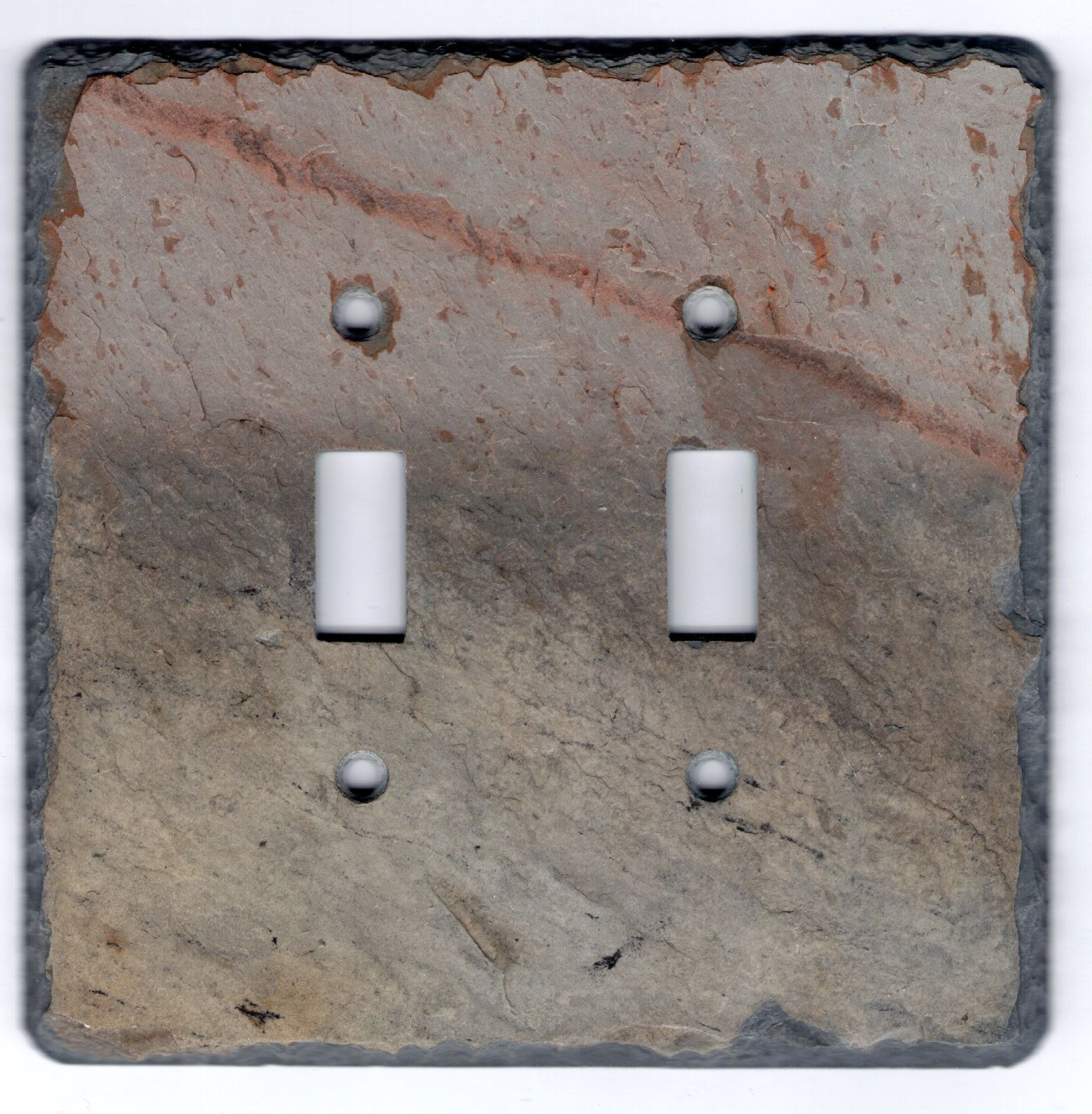 Slate Switch Plate Light Switch Wall Outlet Double Toggle Recycled ...