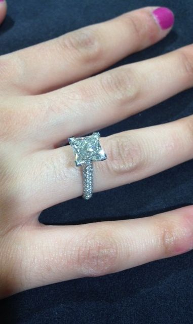 Nothing says LOVE for your Princess like a Princess Cut Diamond ring. #FMJ #Diamonds #EngagementRings