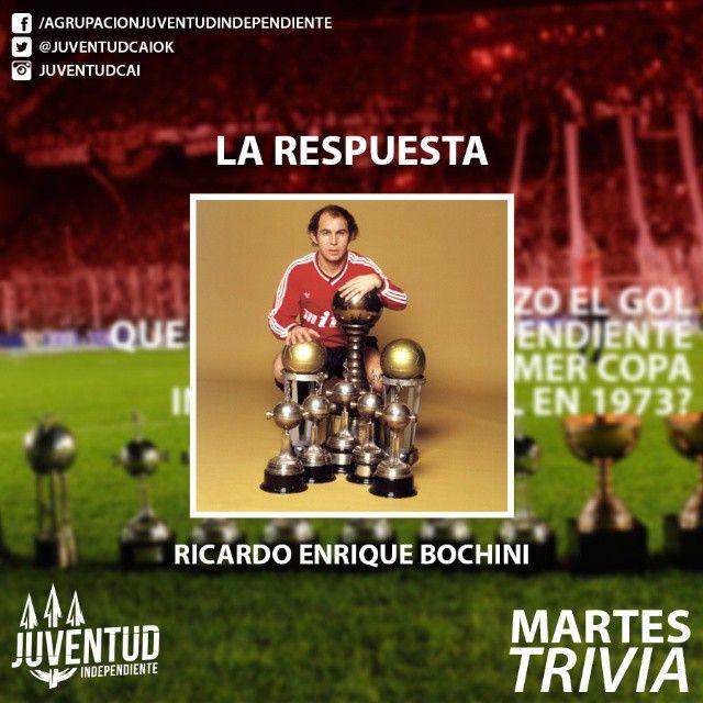 La respuesta, como muchos dijeron! #Bochini, #ElBocha, #Independiente Felicitaciones a los que acertaron!