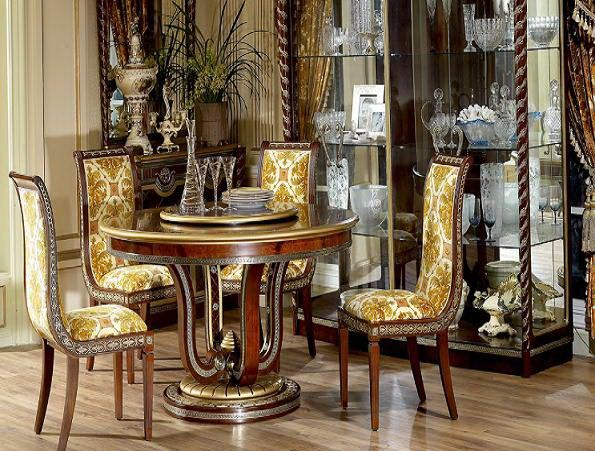 Brocade Chairs And Wooden Table Here Are Some Beautiful
