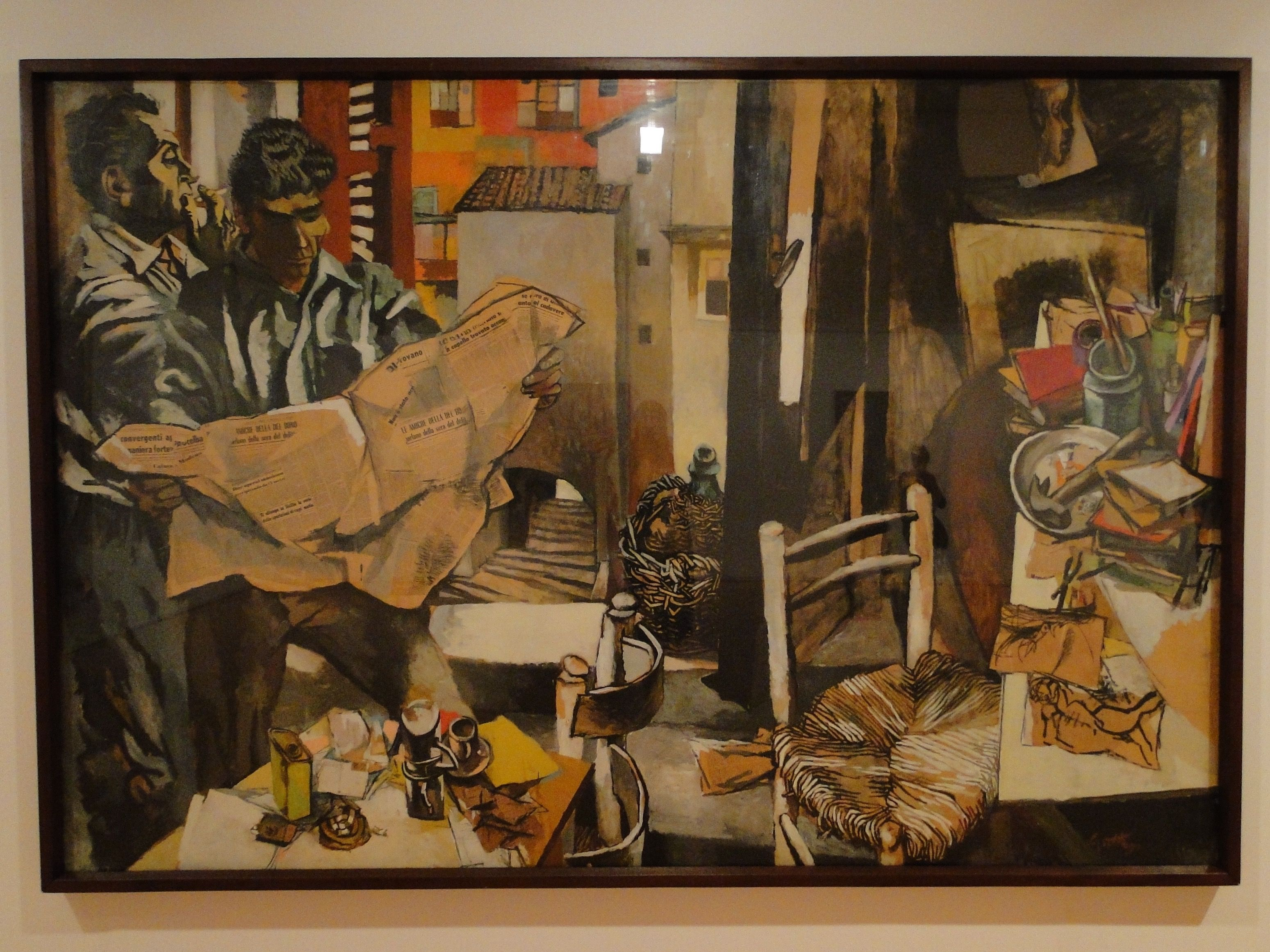 Renato Guttuso, Studio e Paesaggio, 1961 Coleção Berardo