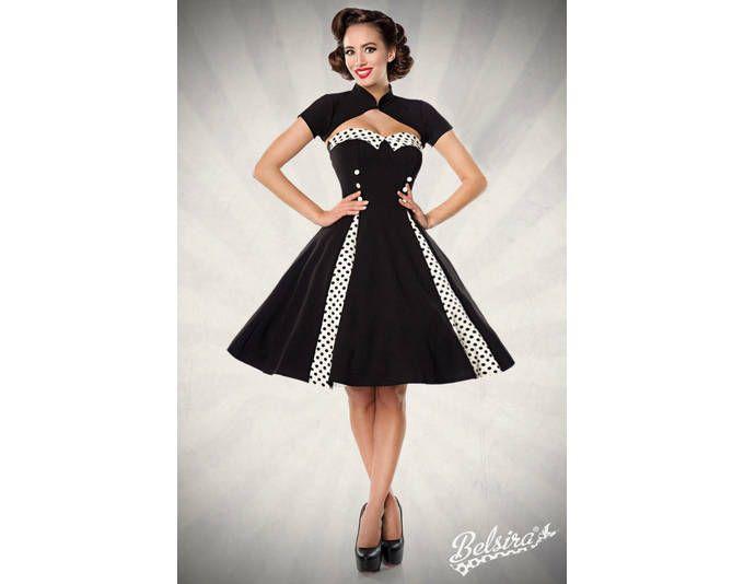 Vintage-Kleid mit Bolero schwarz/weiß Jetzt bestellen unter: https ...
